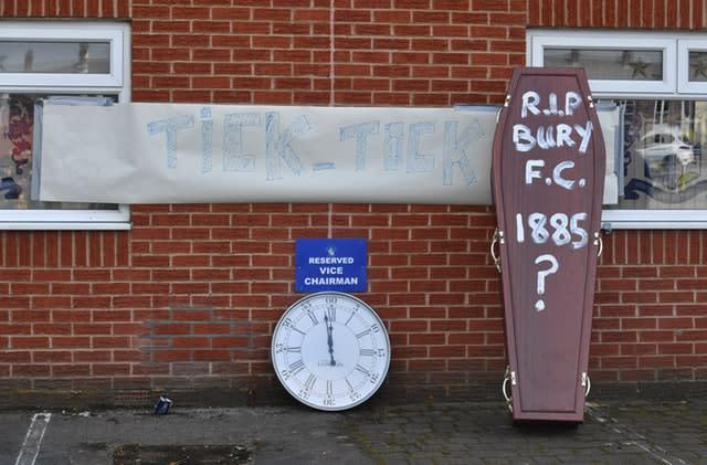 Time had been running out for Bury (Dave Howarth/PA)