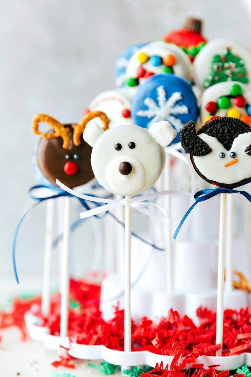 """<p>Kids will love these Oreo cake pops because of the cast of adorable characters they can choose from.</p><p><strong>Get the recipe at <a href=""""https://www.chelseasmessyapron.com/christmas-oreo-pops-2/"""" rel=""""nofollow noopener"""" target=""""_blank"""" data-ylk=""""slk:Chelsea's Messy Apron"""" class=""""link rapid-noclick-resp"""">Chelsea's Messy Apron</a>.</strong></p><p><strong><a class=""""link rapid-noclick-resp"""" href=""""https://www.amazon.com/Lollipop-sticks-100-count-inch/dp/B000W5CGR8?tag=syn-yahoo-20&ascsubtag=%5Bartid%7C10050.g.22841709%5Bsrc%7Cyahoo-us"""" rel=""""nofollow noopener"""" target=""""_blank"""" data-ylk=""""slk:SHOP LOLLIPOP STICKS"""">SHOP LOLLIPOP STICKS</a><br></strong></p>"""