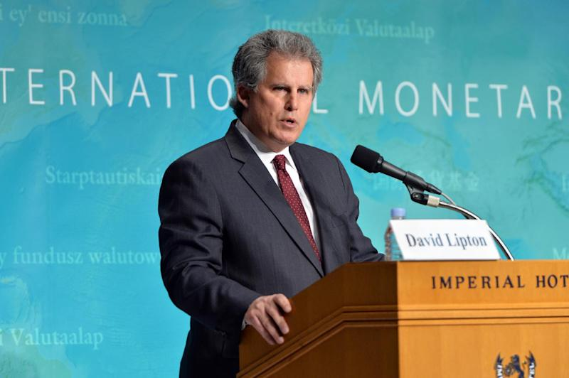 The International Monetary Fund's First Deputy Managing Director David Lipton speaks before the press in Tokyo on May 31, 2013