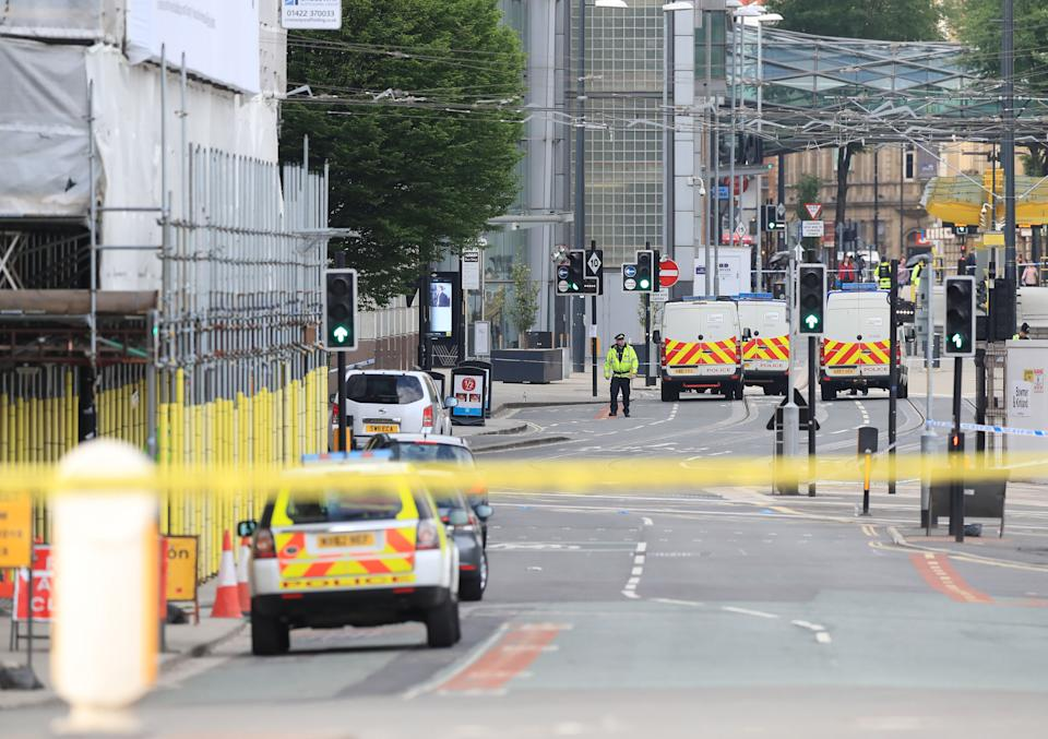 File photo dated 23/05/17 of the scene close to the Manchester Arena the morning after the terror attack at an Ariana Grande concert. Hashem Abedi, brother of the Manchester Arena bomber Salman Abedi, is due to go on trial this week for mass murder.