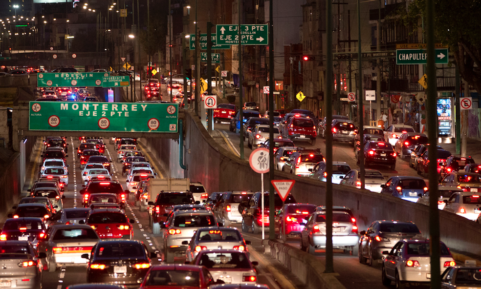 <p>Mexico City, Mexico – Congestion level 66% </p>