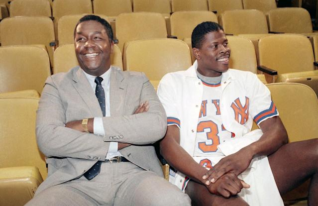 John Thompson and Patrick Ewing in New York in 1985. (AP)