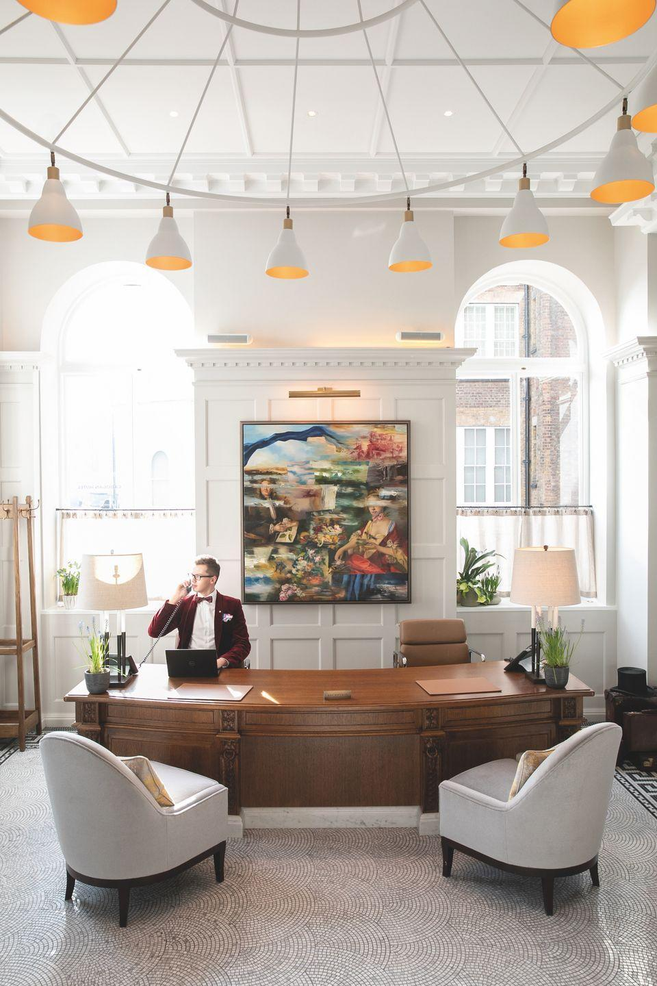 """<p><a href=""""https://www.belmond.com/hotels/europe/uk/london/belmond-cadogan-hotel/"""" rel=""""nofollow noopener"""" target=""""_blank"""" data-ylk=""""slk:Belmond's Cadogan Hotel"""" class=""""link rapid-noclick-resp"""">Belmond's Cadogan Hotel</a> property lies in London's idyllic Chelsea neighborhood and has enchanted world-famous creatives like Oscar Wilde and Lillie Langtry for nearly 150 years. Today, it houses 430 pieces of original artworks primarily from British artists that guests from around the world flock to admire. </p><p>The hotel recently revealed a new collaboration with British-American artist <a href=""""https://www.nancycadogan.com/"""" rel=""""nofollow noopener"""" target=""""_blank"""" data-ylk=""""slk:Nancy Cadogan"""" class=""""link rapid-noclick-resp"""">Nancy Cadogan</a> to feature an installation of five pieces from her collection through the end of 2020. She is also working on additional pieces that will be exclusively added to the hotel's exhibit.</p><p> Once you've feasted your eyes upon all the gorgeous artwork, you can enjoy exclusive access to Cadogan Place Gardens, the hotel's fine dining options, some of London's best shopping right outside your door, and exclusive access to the city's most prominent galleries and museums.</p><p><a class=""""link rapid-noclick-resp"""" href=""""https://www.belmond.com/hotels/europe/uk/london/belmond-cadogan-hotel/"""" rel=""""nofollow noopener"""" target=""""_blank"""" data-ylk=""""slk:Book Now"""">Book Now</a></p>"""