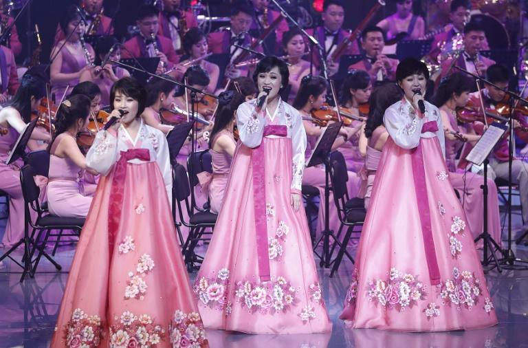 Some 140 members of North Korea's Samjiyon Orchestra gave their first performance at the Gangneung Art Centre