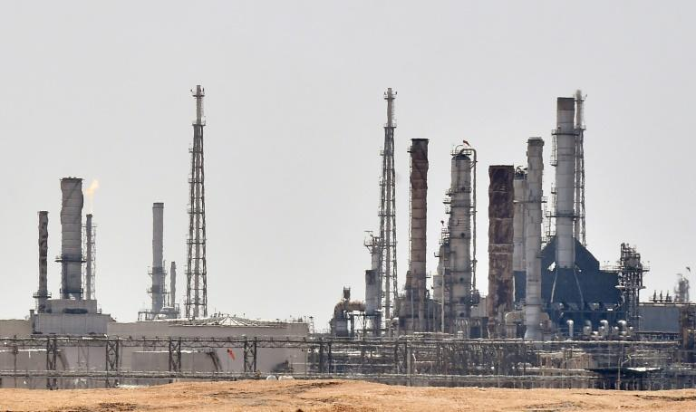 The Saudi Aramco oil facility near al-Khurj area, just south of the capital Riyadh (AFP Photo/FAYEZ NURELDINE)