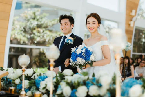 Tracy and her husband Justin Ng were married in 2019