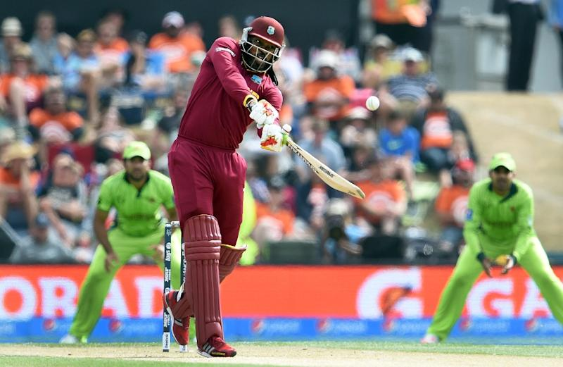 Chris Gayle will be among the guest players in Paklistan's first franchise-based T20 cricket league (AFP Photo/William West)