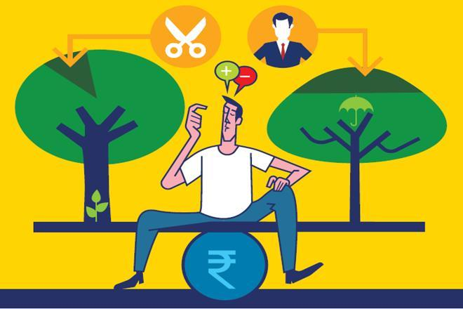 Ideally, an individual should opt for a pure term insurance plan to cover the life risk. For investments, he should look at equity mutual funds for higher long-term returns