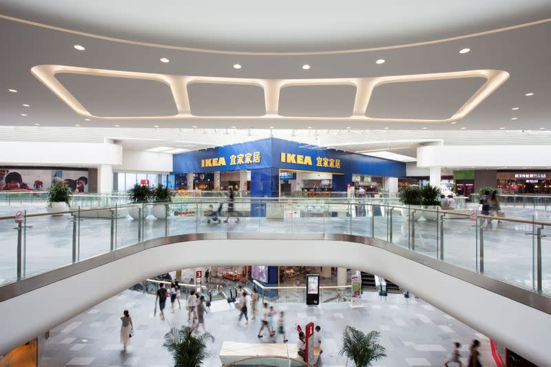 A view of the Ingka Centres-owned Livat shopping mall in Wuhan