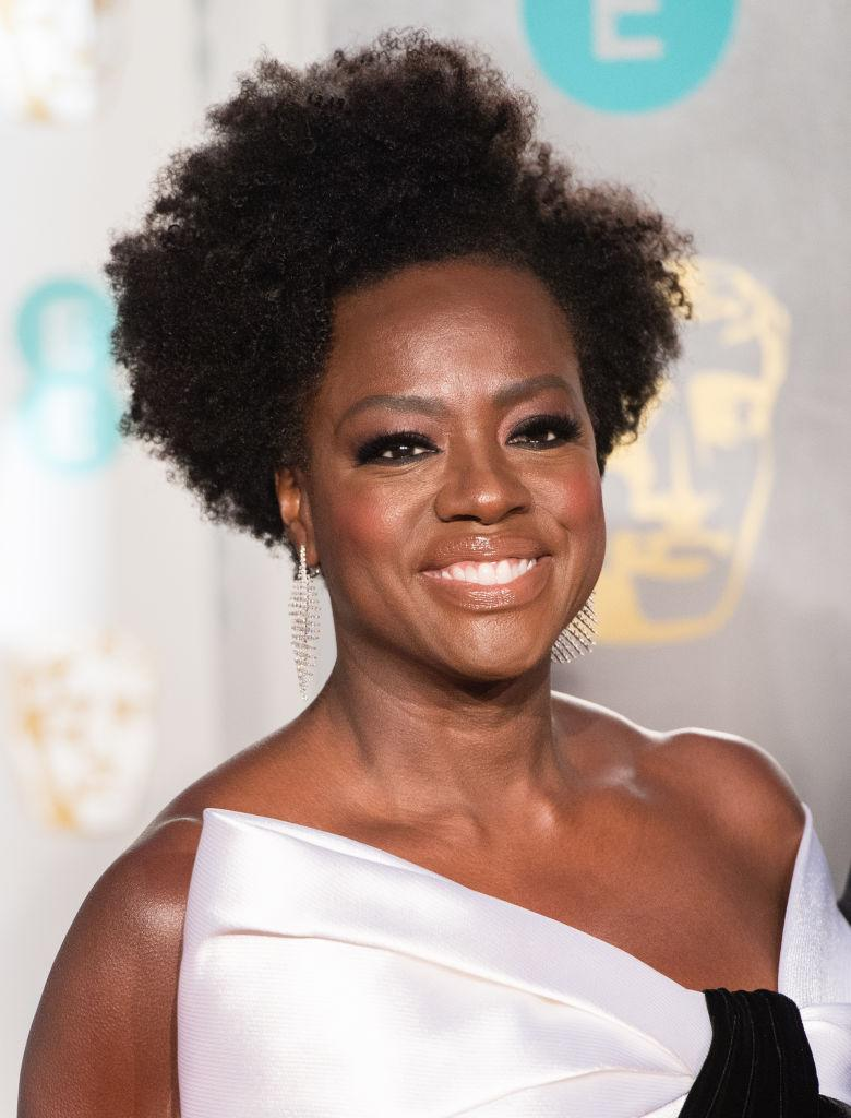 Actress Viola Davis has been a proponent of wearing her natural hair both on screen and on red carpets. (Photo by Samir Hussein/Samir Hussein/WireImage )