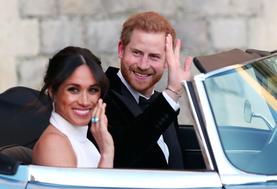 Prince Harry and Meghan Markle were married on Saturday (Picture: Rex)