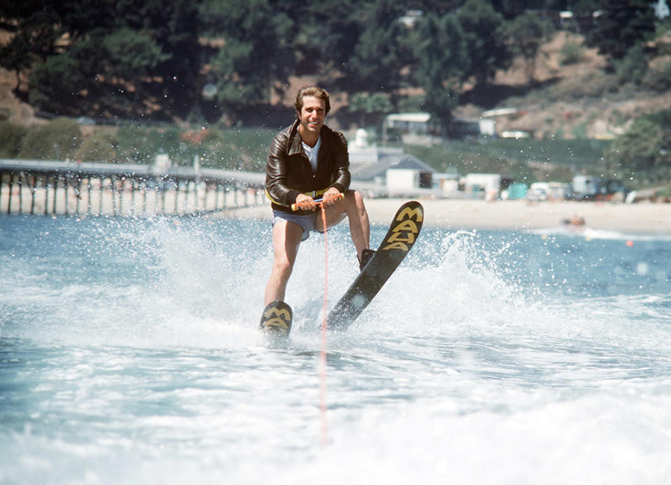 """<p><strong>""""Hollywood Part 1, 2, 3"""" (1977)</strong><br><br>Remember that time the Fonz was in line to be the next James Dean, so the entire Cunningham clan hightailed it out of Milwaukee for an epic three-parter set in Hollywood? <em>Happy Days'</em> Hollywood vacation episodes may be best remembered for Fonzie's silly shark-jumping stunt, but there were also some hidden gems, like Lorne Greene making a cameo in his Ben Cartwight <em>Bonanza</em> costume. While """"Hollywood, Part 3"""" is credited for inspiring the term """"jump the shark,"""" the point at which a TV series begins to decline, the ABC sitcom chugged on for six more seasons after this.<br><br>(Photo: ABC Photo Archives/ABC via Getty Images) </p>"""