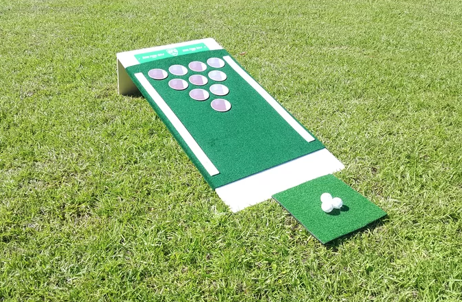 2' x 4' The Original Backyard Single Golf Solid Wood Cornhole Board (Photo: Wayfair)