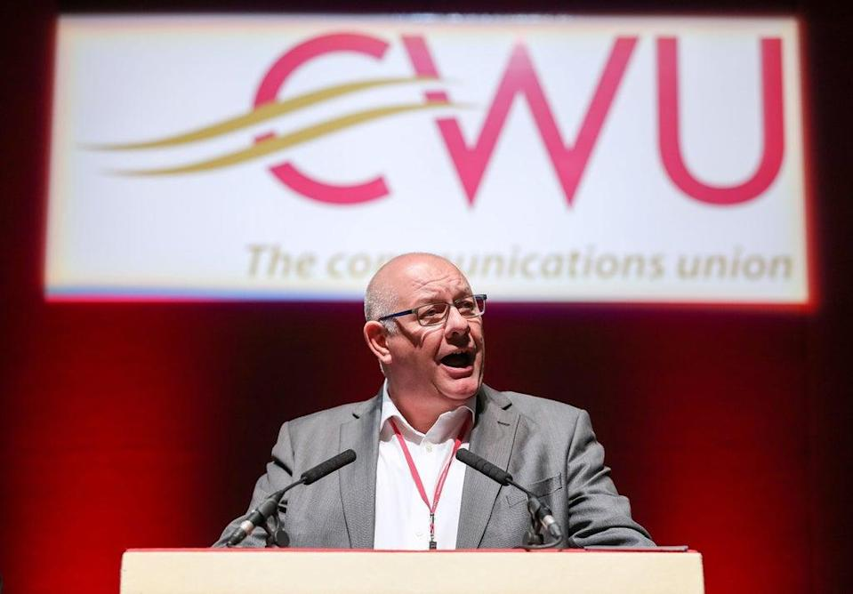 CWU General Secretary Dave Ward said Labour should reassert its commitment to public ownership (PA) (PA Archive)
