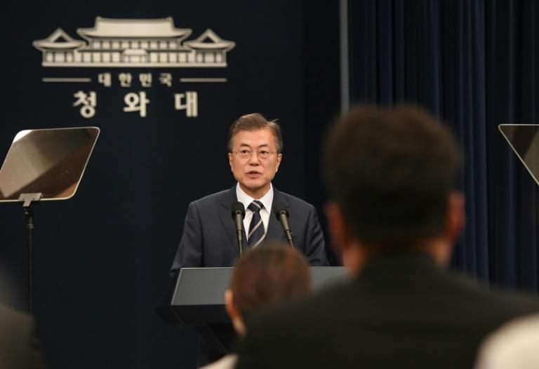 South Korea's Moon said Kim Jong Un described the Singapore summit with Donald Trump as a landmark opportunity to end decades of confrontation