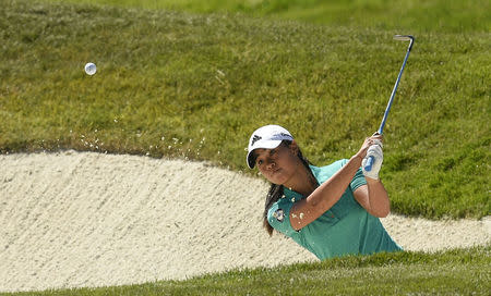 FILE PHOTO: Jul 9, 2016; San Martin, CA, USA; Danielle Kang makes a shot from a bunker on the second hole during the third round of the women's 2016 U.S. Open golf tournament at CordeValle Golf Club. Mandatory Credit: Kelvin Kuo-USA TODAY Sports / Reuters