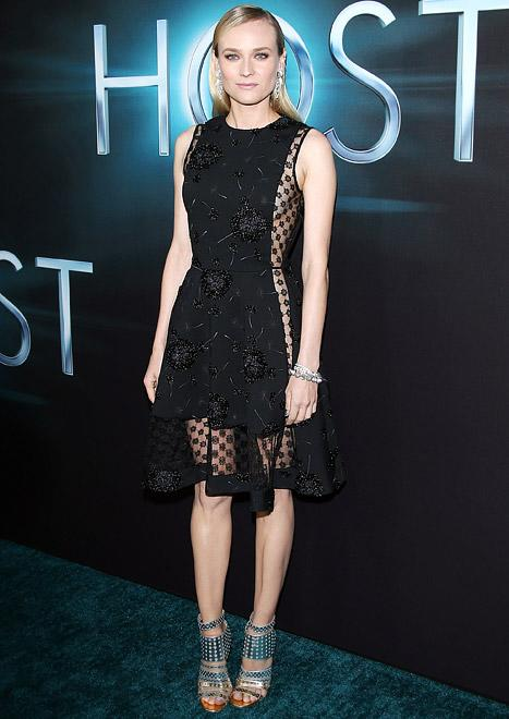 Diane Kruger Flashes Sideboob in Sexy LBD at The Host Premiere, Packs on PDA With Joshua Jackson