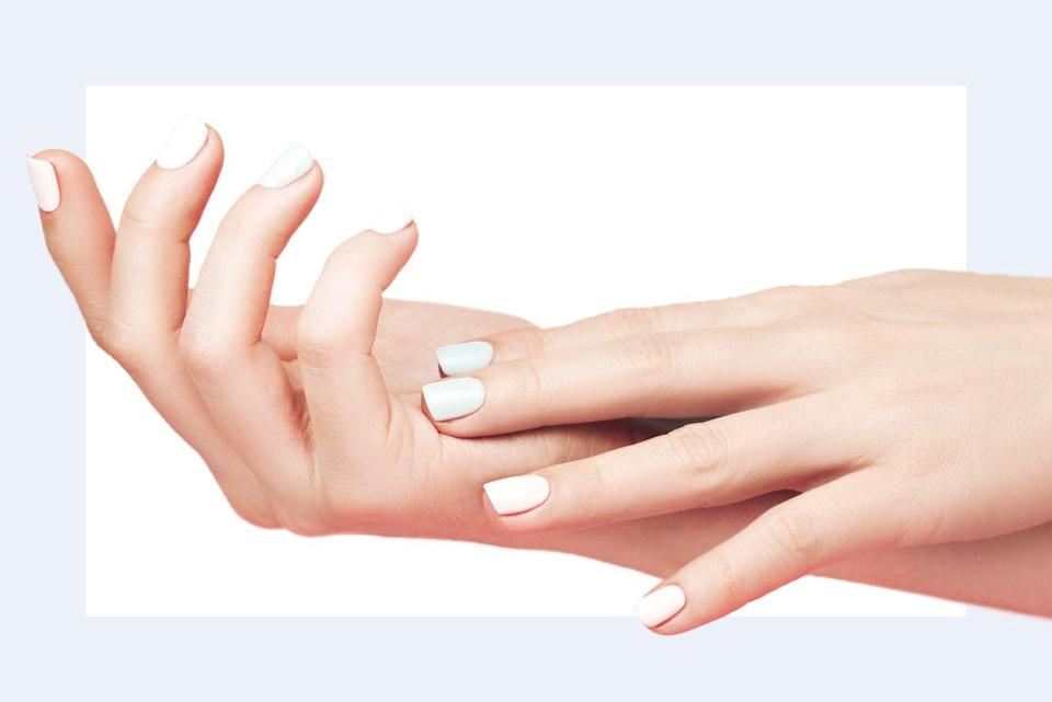 """<p>""""<strong>Women's hands start to age in their late 40s and early 50s</strong>, so Fraxel (or fractional laser) can help reduce pigmentation such as sunspots. It also helps even out skin tone.""""—<em>Dr. Paul Jarrod Frank, celebrity dermatologist and founder of <a href=""""http://www.pfrankmd.com/"""" rel=""""nofollow noopener"""" target=""""_blank"""" data-ylk=""""slk:PFRANKMD"""" class=""""link rapid-noclick-resp"""">PFRANKMD</a></em></p>"""