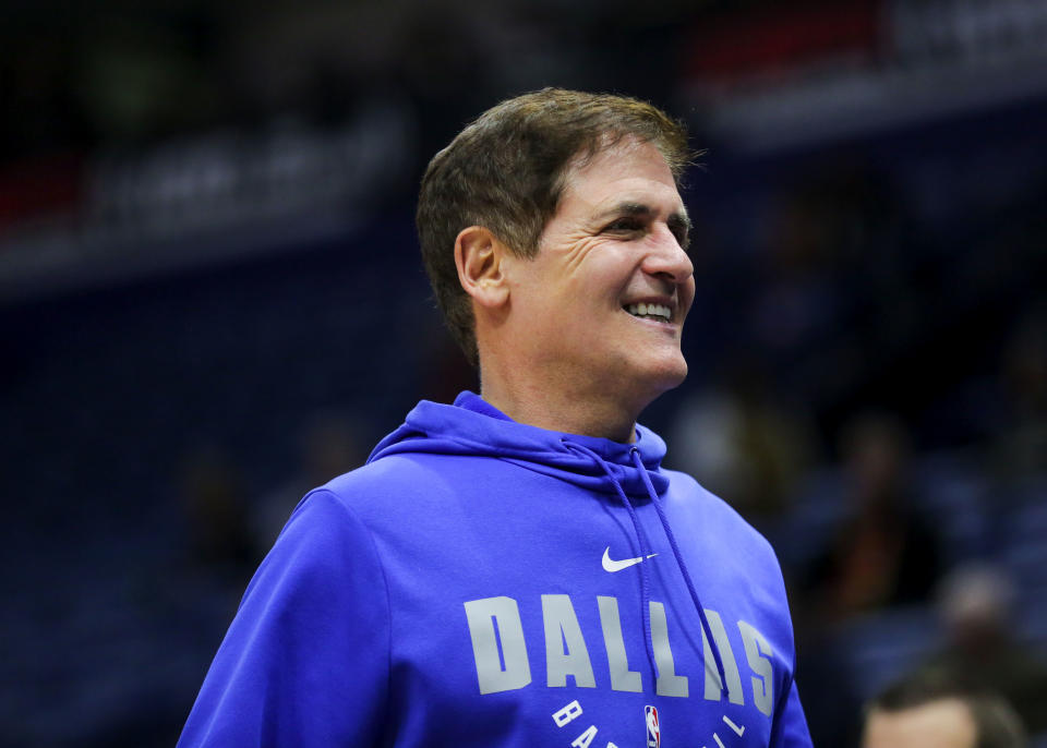 Dec 3, 2019; New Orleans, LA, USA; Dallas Mavericks owner Mark Cuban prior to tip off against the New Orleans Pelicans at the Smoothie King Center. Mandatory Credit: Derick E. Hingle-USA TODAY Sports