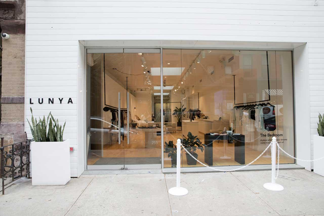 """<p>Lunya is all about the bedroom, founded on creating soft, comfortable, elegant sleepwear. The store embodies its spirit, fittingly called """"The NY Bedroom.) (Photo: courtesy of Lunya)<br />Location: 255 Elizabeth Street New York, NY 10012 </p>"""