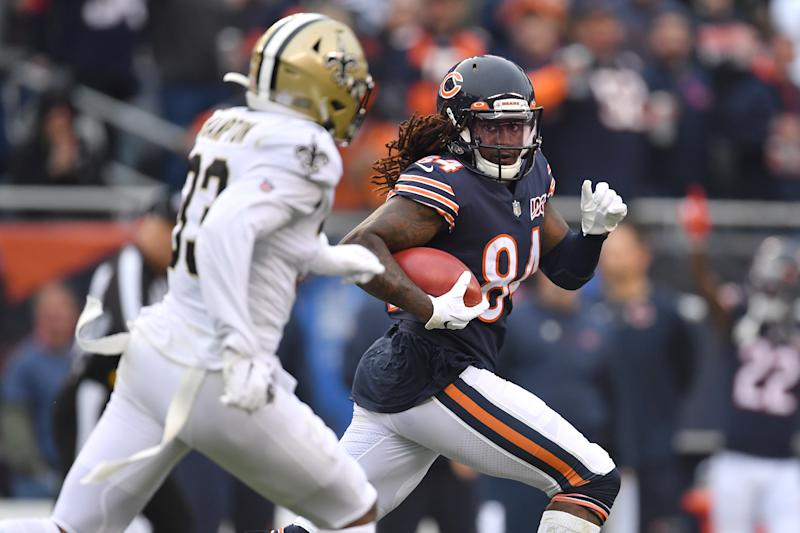 Chicago Bears returner Cordarrelle Patterson (84) had a long touchdown against the Saints. (Getty Images)