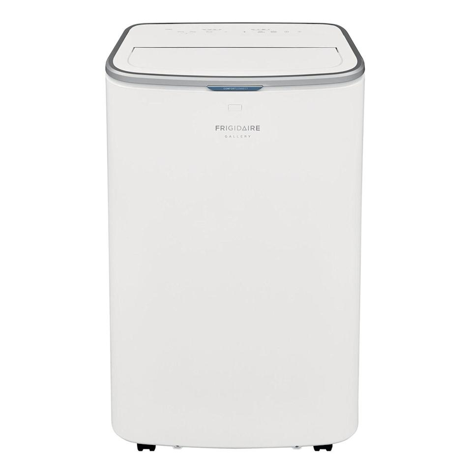 """<p><strong>Frigidaire</strong></p><p>walmart.com</p><p><strong>$599.99</strong></p><p><a href=""""https://go.redirectingat.com?id=74968X1596630&url=https%3A%2F%2Fwww.walmart.com%2Fip%2F635409323&sref=https%3A%2F%2Fwww.bestproducts.com%2Fappliances%2Fsmall%2Fg3241%2Fsmart-wifi-air-conditioners%2F"""" rel=""""nofollow noopener"""" target=""""_blank"""" data-ylk=""""slk:Shop Now"""" class=""""link rapid-noclick-resp"""">Shop Now</a></p><p>The Frigidaire Cool Connect portable air conditioner is one of the best Wi-Fi air conditioners, thanks to an understated design and excellent cooling capabilities. With a maximum cooling capacity of 13,000 BTU, the connected air conditioner is an excellent option for medium-sized or large rooms (up to 600 square feet).</p><p>This smart, portable air conditioner works with Amazon Alexa and Google Assistant voice commands. You can also operate the device with a mobile app, a bundled remote control, or via its built-in controls.</p><p>The AC is also capable of purifying and dehumidifying the air in the room. It has a washable filter and a convenient light, which displays its performance and filter status.</p>"""