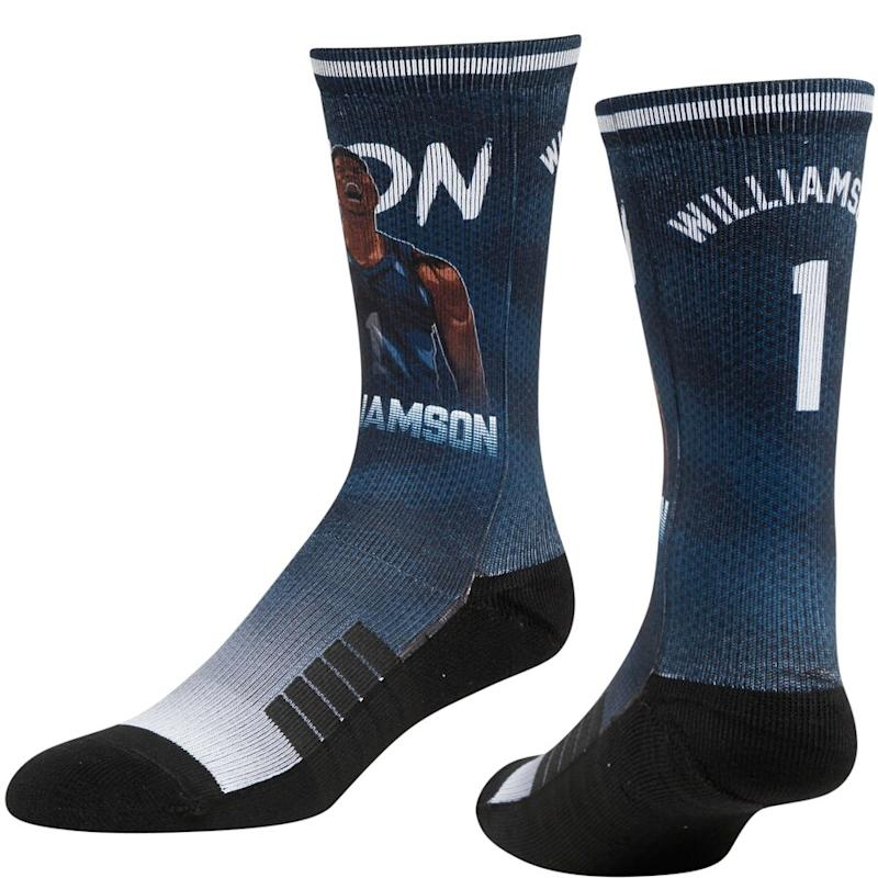 Zion Williamson Pelicans Crew Socks