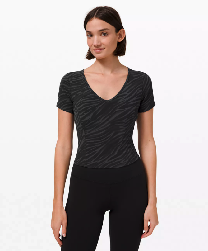 Nulu Cropped Slim Yoga Short Sleeve. Image via Lululemon.
