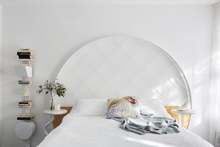 The bedrooms in Frenches Interiors may be less colorful than the common areas, but they're still way cooler than your average nursing home bedroom.