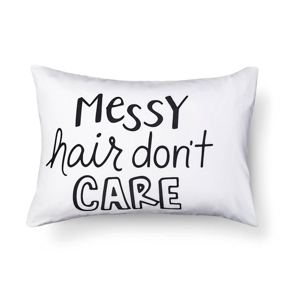 "<p>This <a rel=""nofollow noopener"" href=""https://www.popsugar.com/buy/Messy%20Hair%20Pillowcase-285216?p_name=Messy%20Hair%20Pillowcase&retailer=target.com&price=5&evar1=moms%3Aus&evar9=45374878&evar98=https%3A%2F%2Fwww.popsugar.com%2Fmoms%2Fphoto-gallery%2F45374878%2Fimage%2F45374923%2FMessy-Hair-Pillowcase&list1=holiday%2Cgift%20guide%2Cparenting%20gift%20guide%2Cgifts%20for%20kids%2Ckid%20shopping%2Ctweens%20and%20teens%2Cgifts%20for%20teens&prop13=mobile&pdata=1"" target=""_blank"" data-ylk=""slk:Messy Hair Pillowcase"" class=""link rapid-noclick-resp"">Messy Hair Pillowcase</a> ($5) says it all.</p>"