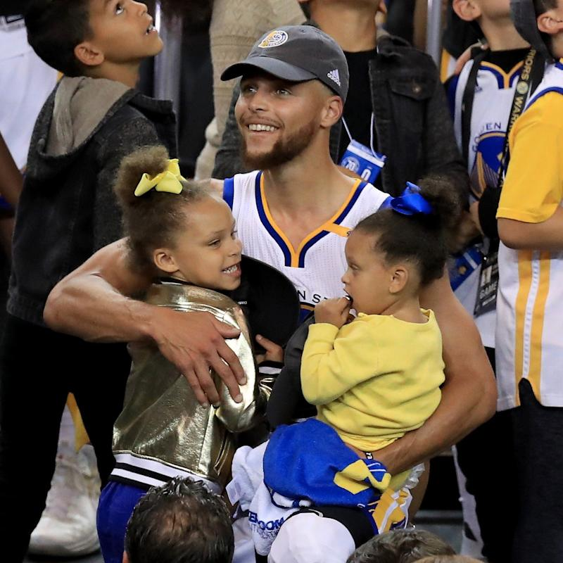 Steph Curry's Adorable Daughters Steal the Show - and His Heart - at the NBA Finals