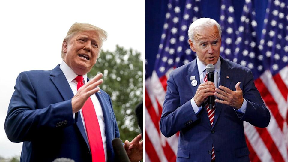 US President Donald Trump and Democratic presidential candidate Joe Biden.