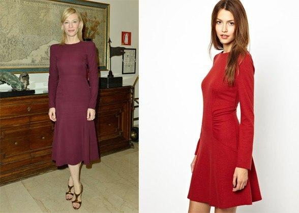 """<div class=""""caption-credit""""> Photo by: Courtesy of Getty Images, asos.com</div><div class=""""caption-title""""></div>Cate Blanchett In Gucci. gathered waist dress in wool, $362.83, vanessa bruno athé, asos.com <br> <b>More from <i>Lucky</i>:</b> <br> <b><a rel=""""nofollow"""" target="""""""" href=""""http://www.luckymag.com/beauty/2011/12/40-Drugstore-Classics?mbid=synd_yshine"""">The 40 Best Drugstore Beauty Products</a> <br> <a rel=""""nofollow"""" target="""""""" href=""""http://www.luckymag.com/blogs/luckyrightnow/2012/09/50-Unique-Engagement-Rings?mbid=synd_yshine"""">50 Unique Engagement Rings</a></b> <br>"""