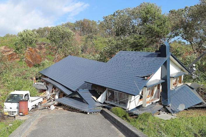 The quake caused a handful of buildings to collapse (AFP Photo/JIJI PRESS)