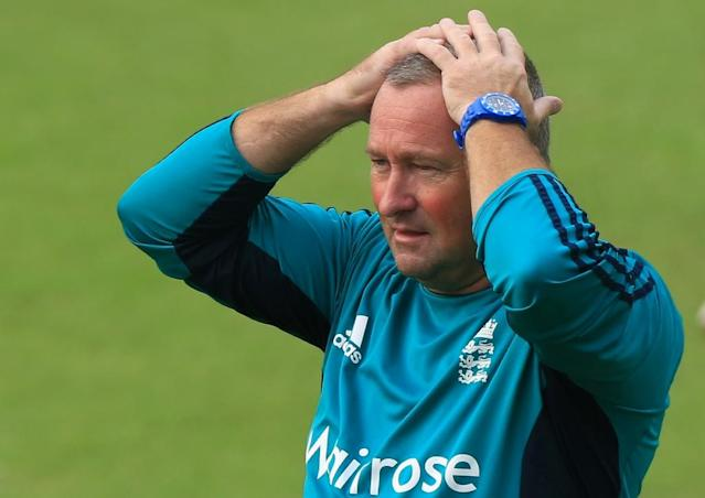 Trevor Bayliss has long made it clear he will be standing down next year and he believes Paul Farbrace (pictured), a 50-year-old Englishman, is well-placed to take over (AFP Photo/STR)