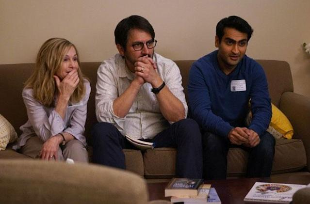 Holly Hunter, Ray Romano and Kumail Nanjiani in 'The Big Sick' (Amazon)
