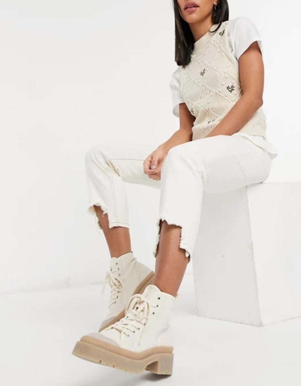 <p>A fun twist on a retro style, the <span>ASOS Reclaimed Vintage Inspired 91 Mom Jean With Destroyed Hems</span> ($51) adds edge to any look. </p>