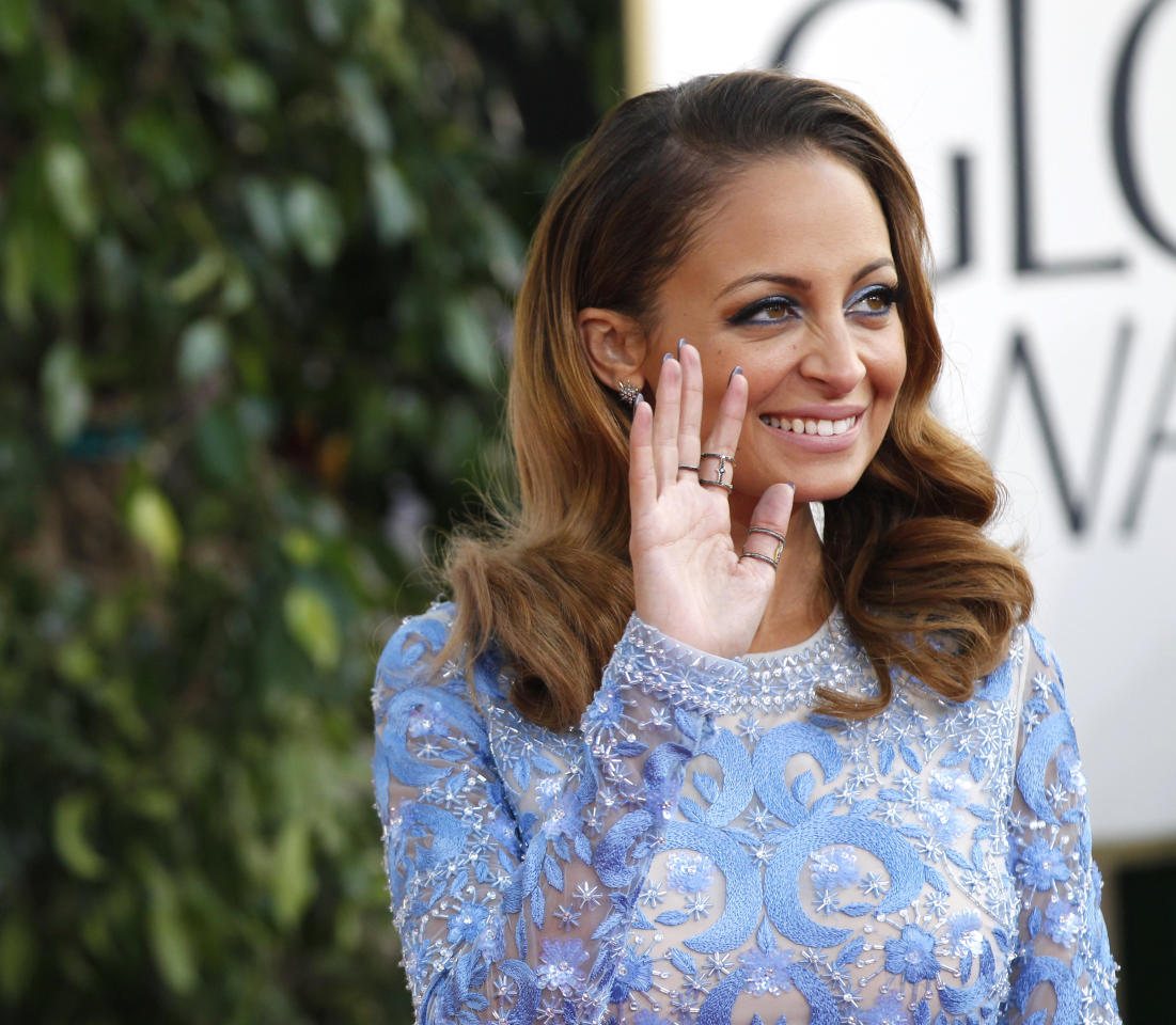 Socialite and actress Nicole Richie arrives at the 70th annual Golden Globe Awards in Beverly Hills, California, January 13, 2013.  REUTERS/Mario Anzuoni (UNITED STATES  - Tags: ENTERTAINMENT) (GOLDENGLOBES-ARRIVALS)