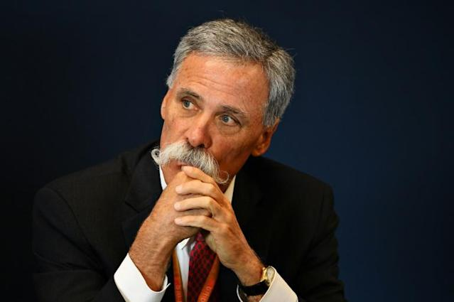 F1 boss Chase Carey sees a 15-18 race season still possible (AFP Photo/CLIVE MASON)