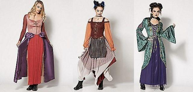 "Channel the Sanderson sisters this Halloween. Shop <a href=""https://www.spencersonline.com/product/movies-tv/movies/hocus-pocus/adult-mary-sanderson-costume-hocus-pocus/pc/2523/c/342/sc/4279/149023.uts?thumbnailIndex=11"" target=""_blank"">Mary</a> Sanderson, <a href=""https://www.spencersonline.com/product/movies-tv/movies/hocus-pocus/adult-winifred-sanderson-costume-hocus-pocus/pc/2523/c/342/sc/4279/149016.uts?thumbnailIndex=12"" target=""_blank"">Winifred</a> Sanderson and <a href=""http://www.spencersonline.com/product/adult-sarah-sanderson-costume-hocus-pocus/149014.uts?Extid=sf_froogle&utm_campaign=RKG_-_Shopping_-_Licenses&utm_medium=paid&utm_source=google&utm_term=315603181855_custom_label_3_hocus_pocus&utm_content=Hocus_Pocus&utm_inex=e&product_id=07470354&adpos=1o1&creative=196268667487&device=c&matchtype=&network=g&gclid=CjwKCAjw3f3NBRBPEiwAiiHxGIoFerz9vBy7gYOeD-peJ8p_YT_uIxVTHqsAhdSQ-cmCPJN-vri6FxoCzhQQAvD_BwE"" target=""_blank"">Sarah Sanderson</a> looks here."