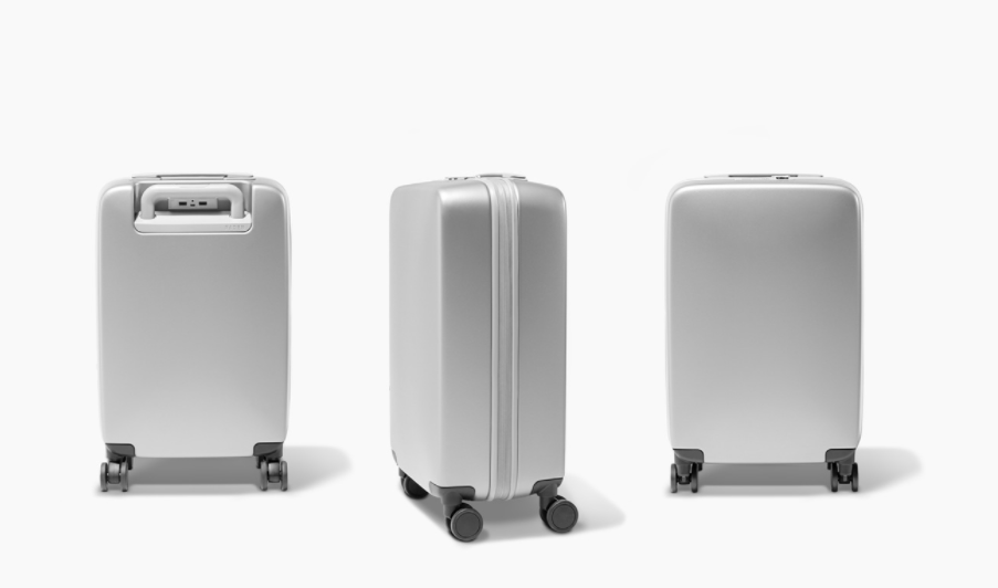 """<p>Cost: $295 </p><p>The stylish carry-on bag makes your standard roller bag look archaic. <a rel=""""nofollow"""" href=""""https://www.raden.com/products/a22-carry?color=light-blue&finish=gloss"""">The 4-wheeled spinner</a> has a removable battery inside, allowing you to charge your smartphone via the two USB ports under the handle. The free Raden app functions as your control center, letting you see how much battery power your suitcase has left, and using GPS to find your bag if it goes missing. The app also displays the weight of your suitcase (the handle doubles as a scale), so you can make sure your bag meets weight requirements before you head to the airport. </p><p></p>"""