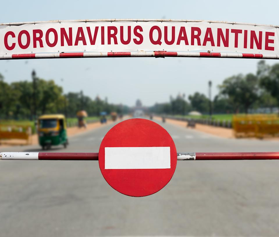Coronavirus Quarantine in New Delhi, India