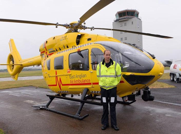 The Duke of Cambridge flew emergency medical service missions by helicopter (Getty Images)