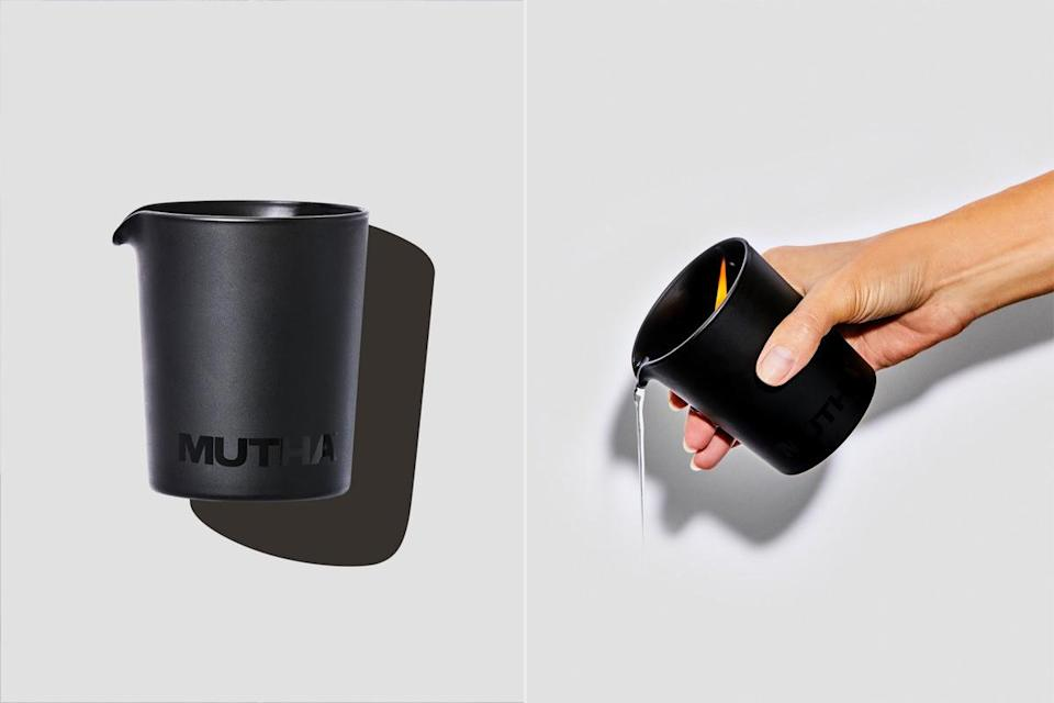 """<p>We love a product that does double duty, and this brand-new, chocolate-scented candle from MUTHA is made of an all-natural wax-and-oil blend that can be massaged into the skin when melted. Perfect for a romantic Valentine's date night!</p> <p><strong>Buy It!</strong> Launches Feb. 10; $65, <a href=""""http://protect-us.mimecast.com/s/E161CADrDKI98Blp7IYIH0F?domain=mutha.com"""" rel=""""nofollow noopener"""" target=""""_blank"""" data-ylk=""""slk:mutha.com"""" class=""""link rapid-noclick-resp"""">mutha.com</a></p>"""