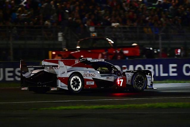 Jose Maria Lopez is defending a reduced lead in the #7 Toyota TS050 HYBRID after Fernando Alonso's stint took over a minute out of his advantage