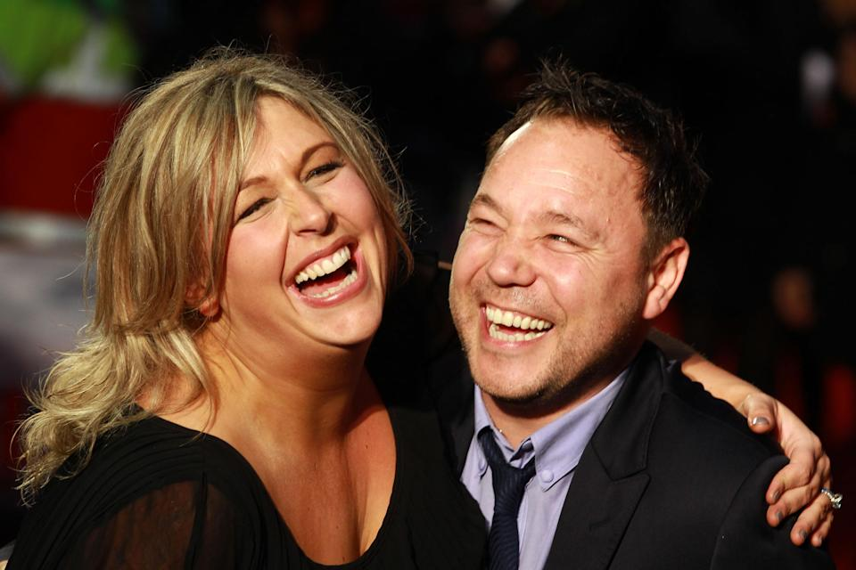 LONDON, UNITED KINGDOM – OCTOBER 11: Hannah Walters and Stephen Graham attend the Premiere of 'Blood' during the 56th BFI London Film Festival at Odeon West End on October 11, 2012 in London, England. (Photo by Fred Duval/FilmMagic)