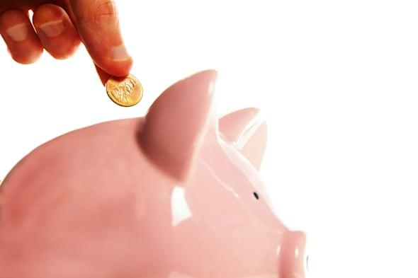 putting a penny in the piggy...