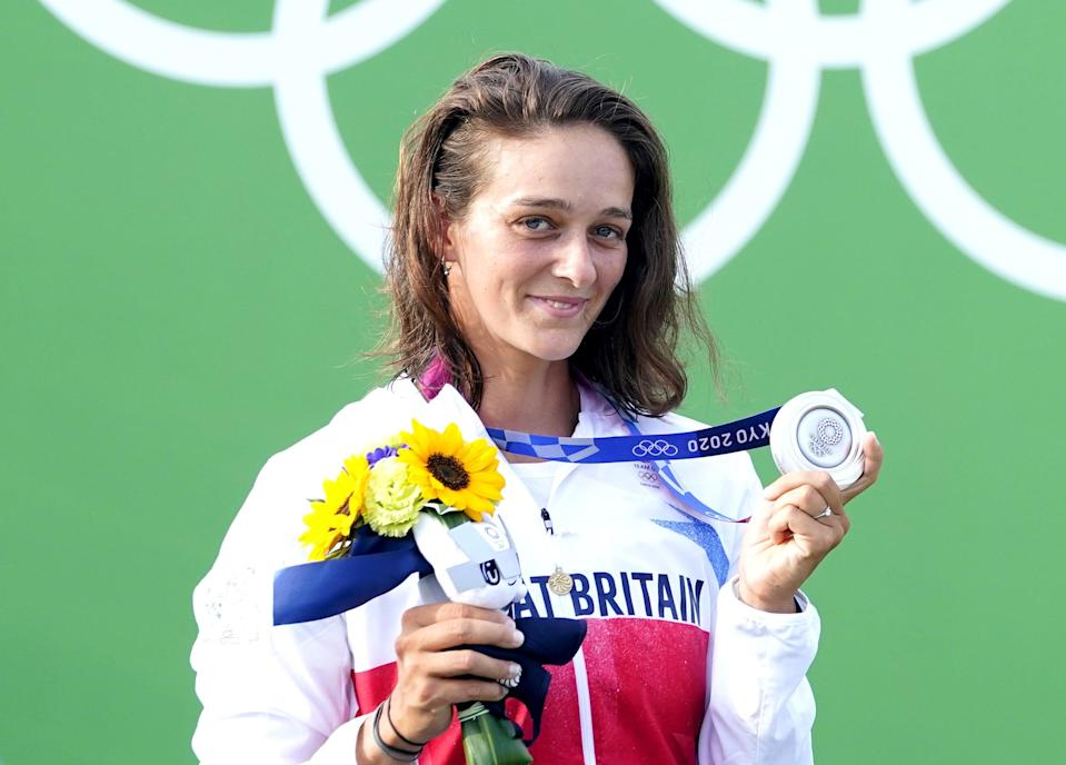 Mallory Franklin with her silver medal (Danny Lawson/PA) (PA Wire)