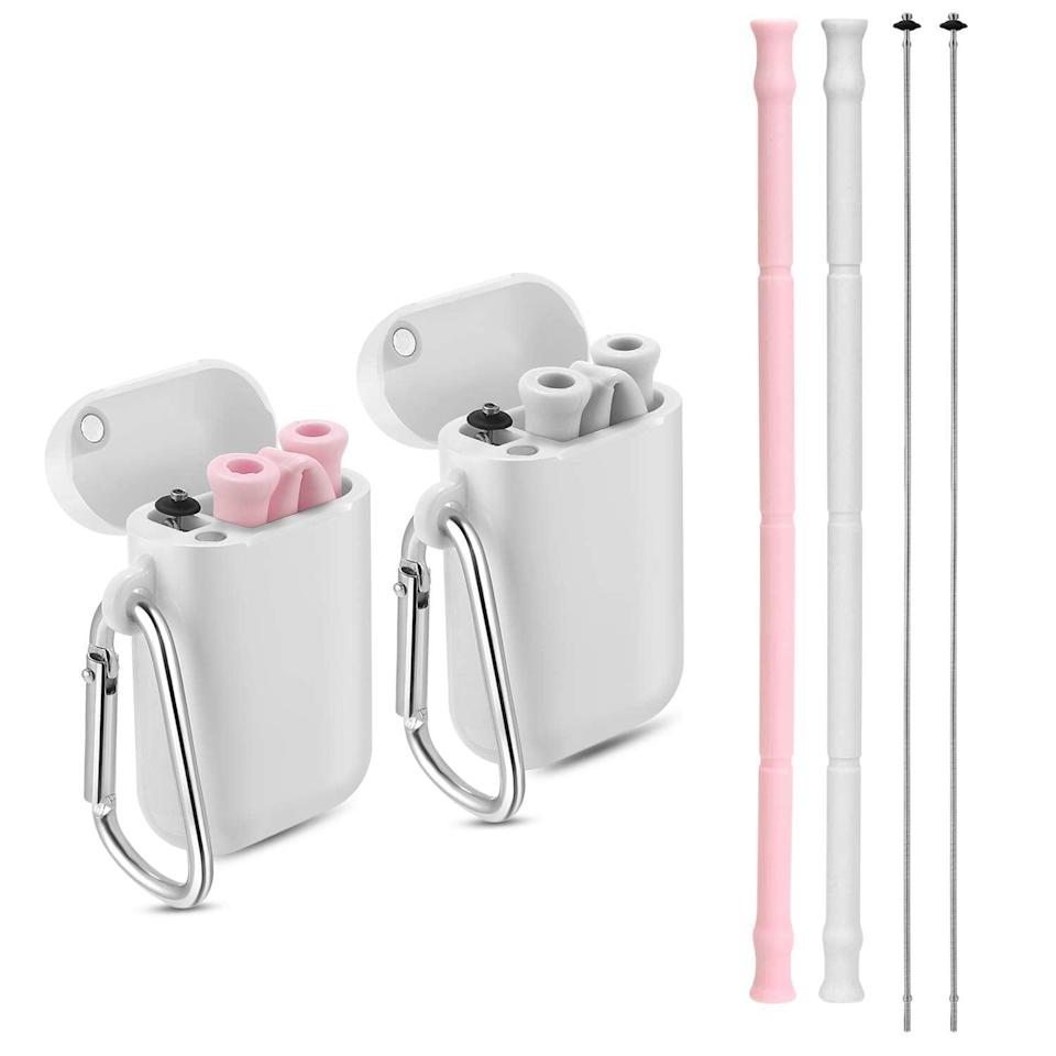 <p>These <span>Yoocaa Reusable Silicone Collapsible Straws</span> ($6, originally $15) are genius. They take away any excuse you might have for not using an environmentally friendly straw. If you can keep track of your AirPods, you can use these.</p>