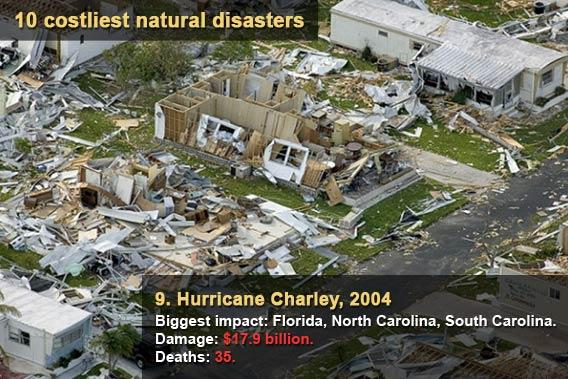 10 costliest natural disasters - Hurricane Charley